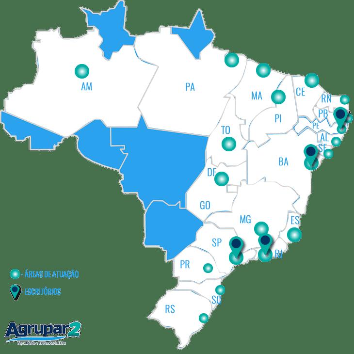 Agrupar2 - Áreas de Atuação e Escritórios